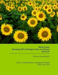 White Paper Boosting HR's Strategic Value via Shared Services