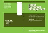 Public Personnel Management Public Personnel Management - IPMA