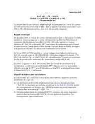 Déclarations écrites - Normes d'information financière et de ...