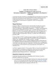 Informations comparatives - Normes d'information financière et de ...
