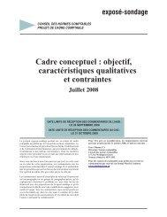 Cadre conceptuel : objectif, caractéristiques qualitatives et contraintes