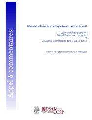 Information financière des organismes sans but lucratif - Normes d ...