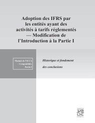 Activités à tarifs réglementés - Normes d'information financière et de ...