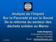 Analyse de l'Impact Sur la Pauvreté et sur le Social De la réforme du ...