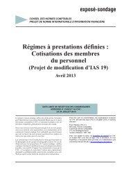 Régimes à prestations définies - Normes d'information financière et ...