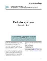 Contrats d'assurance - Normes d'information financière et de ...