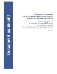 Document explicatif, mars 2011 - Normes d'information financière et ...
