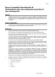 Participations dans des entreprises associées - Normes d ...