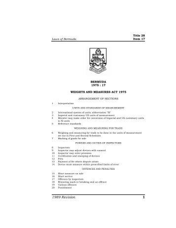 Weights and Measures Act 1975.pdf - Bermuda Laws Online