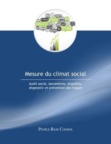 Mesure du climat social - PEOPLE BASE CBM