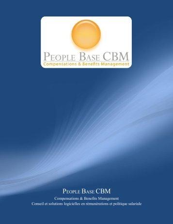 telecharger la plaquette - PEOPLE BASE CBM