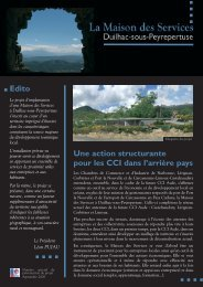 Téléchargez la plaquette de présentation - (CCI) de Narbonne ...