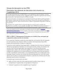 intention des observateurs - Normes d'information financière et de ...