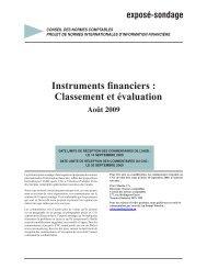 Instruments financiers : Classement et évaluation - Normes d ...