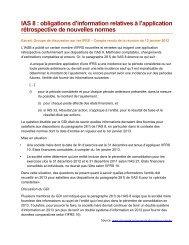 IAS 8 : obligations d'information relatives à l'application rétrospective ...