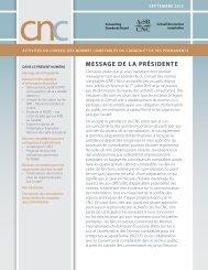Bulletin du CNC – Septembre 2013 - Normes d'information ...