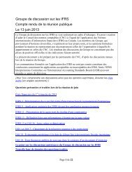 IFRS Discussion Group - Normes d'information financière et de ...