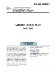 Activités abandonnées - Normes d'information financière et de ...
