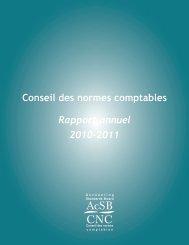 Rapport annuel du CNC 2010-2011 - Normes d'information ...