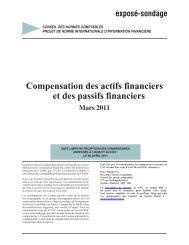 Compensation des actifs financiers et des passifs financiers