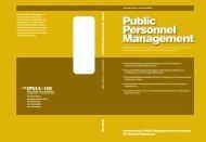 Public Personnel Management Public Personnel Management