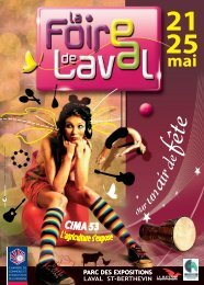 Programme Foire Expo 2009 - (CCI) de la Mayenne