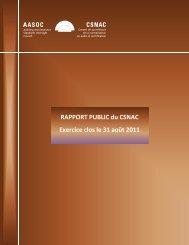 Rapport public du CSNAC - Normes d'information financière et de ...