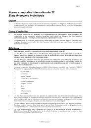 États financiers individuels - Normes d'information financière et de ...