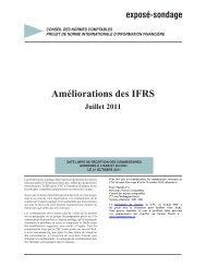 Améliorations des IFRS - Normes d'information financière et de ...