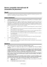 Immeubles de placement - Normes d'information financière et de ...