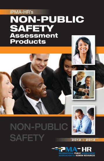 Download a non-public safety administrative test catalog - IPMA