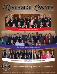 2009 Riverside County Mock Trial Competition