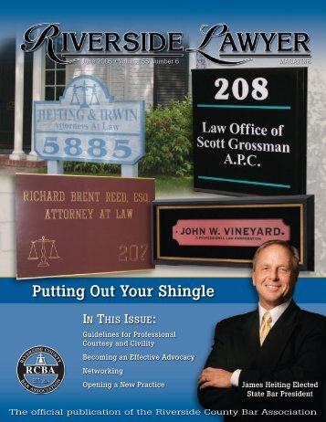 June 2005 - Riverside Lawyer Magazine - Riverside County Bar ...