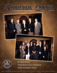 November 2004 - Riverside Lawyer Magazine - Riverside County ...