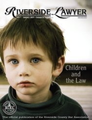 January 2007 - Riverside Lawyer Magazine - Riverside County Bar ...