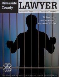 July/August 2004 - Riverside Lawyer Magazine - Riverside County ...