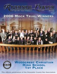 2006 Mock Trial Winners - Riverside County Bar Association