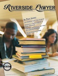 IN THIS ISSUE - Riverside County Bar Association