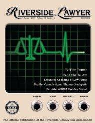 January 2005 - Riverside Lawyer Magazine - Riverside County Bar ...