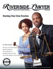 Starting Your Own Practice - Riverside County Bar Association