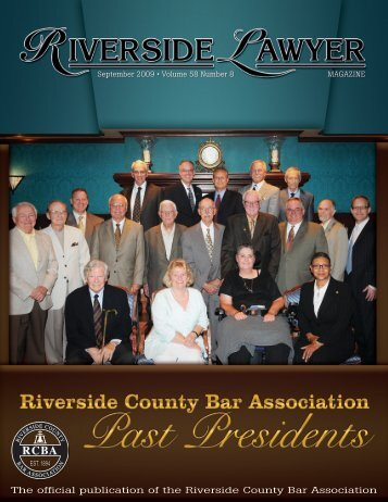 September 2009 - Riverside Lawyer Magazine - Riverside County ...