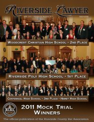 2011 Mock Trial - Riverside County Bar Association