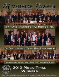 2012 Mock Trial - Riverside County Bar Association