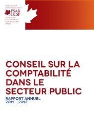 Rapport annuel du CCSP - Normes d'information financière et de ...