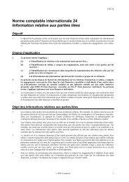 Information relative aux parties liées - Normes d'information ...