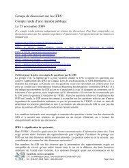 Compte rendu - Normes d'information financière et de certification ...