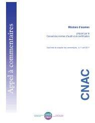 Missions d'examen - Normes d'information financière et de ...