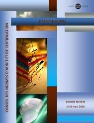 Rapport annuel 2009-2010 du CNAC - Normes d'information ...