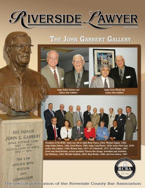 THE JOHN GABBERT GALLERY - Riverside County Bar Association