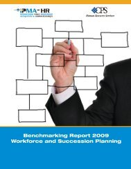 Benchmarking Report 2009 Workforce and Succession Planning